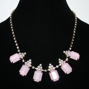 Pretty Gold pink and rhinestone necklace adjust.